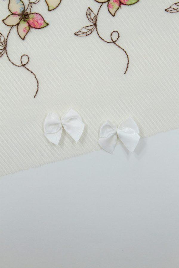 Бантик пришивной 1.5 см белый