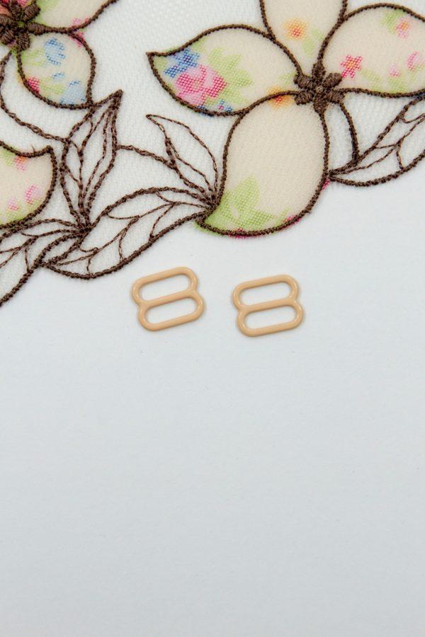 Регулятор металлический бельевий 1 см персико-бежевый