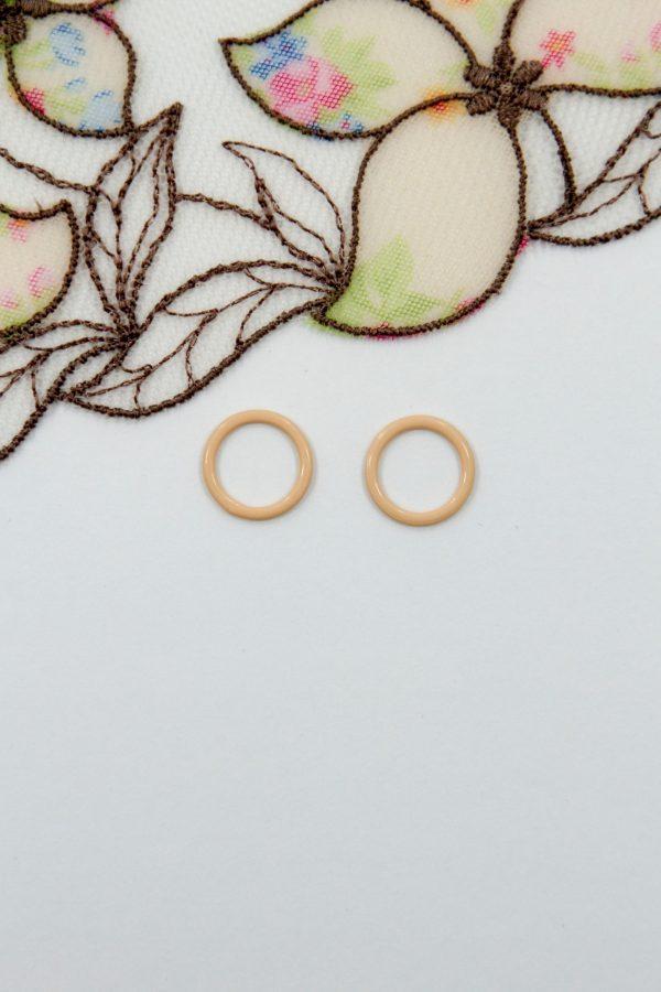 Кольцо металлическое бельевое 1 см персико-бежевое