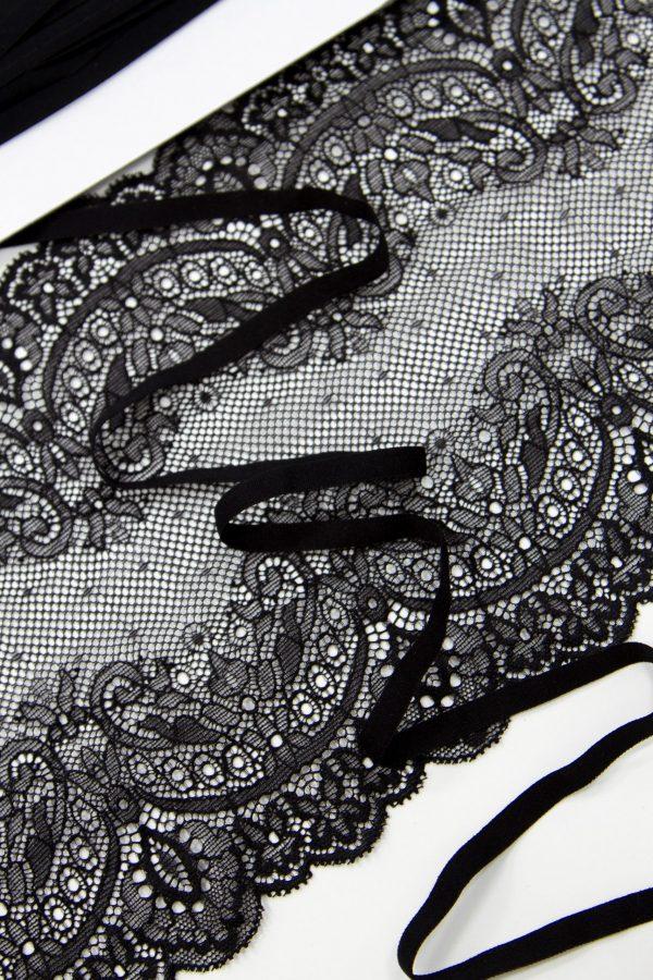 Резинка бельевая узкая 7 мм чёрная