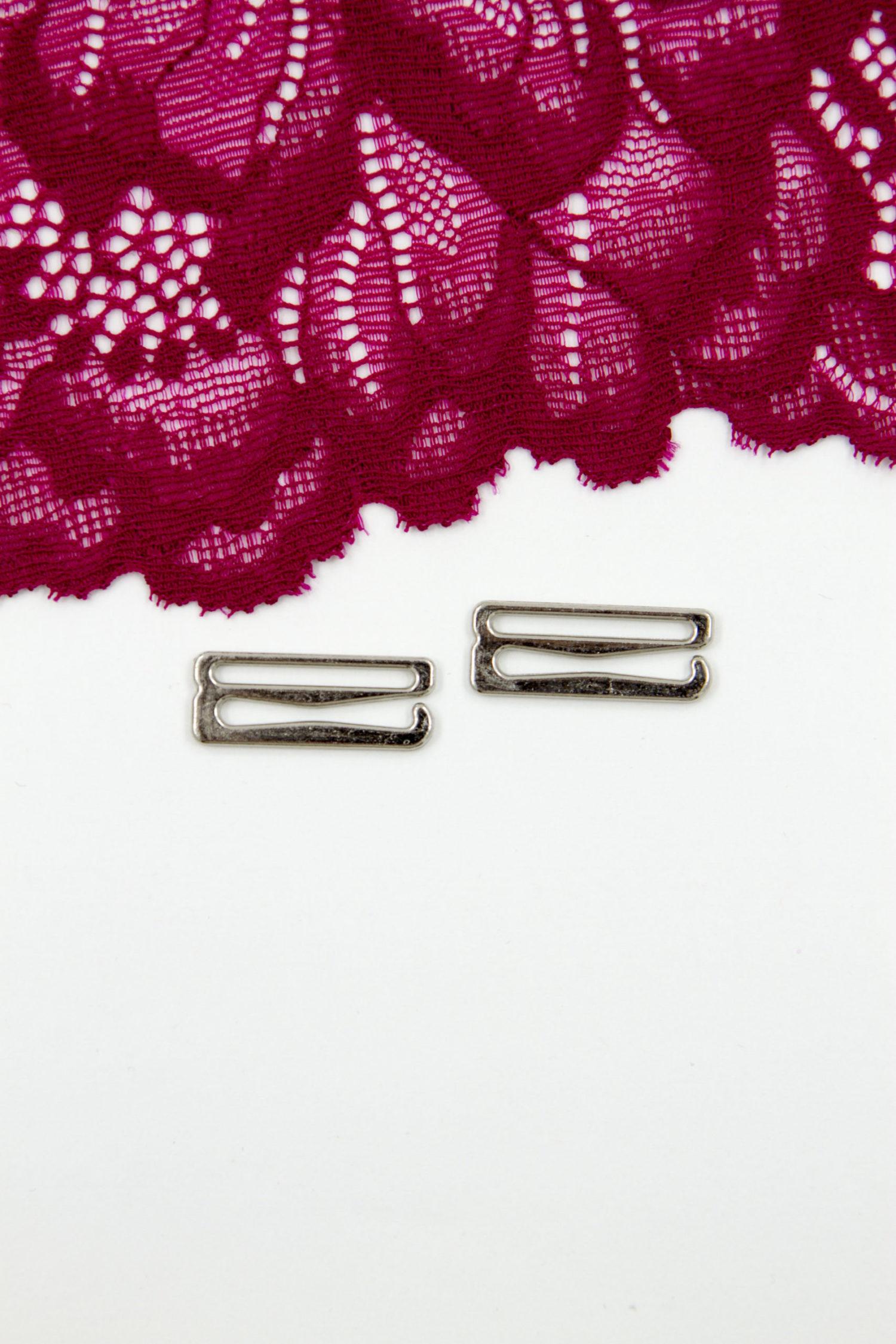 Крючок металлический бельевая фурнитура 2 см серебро