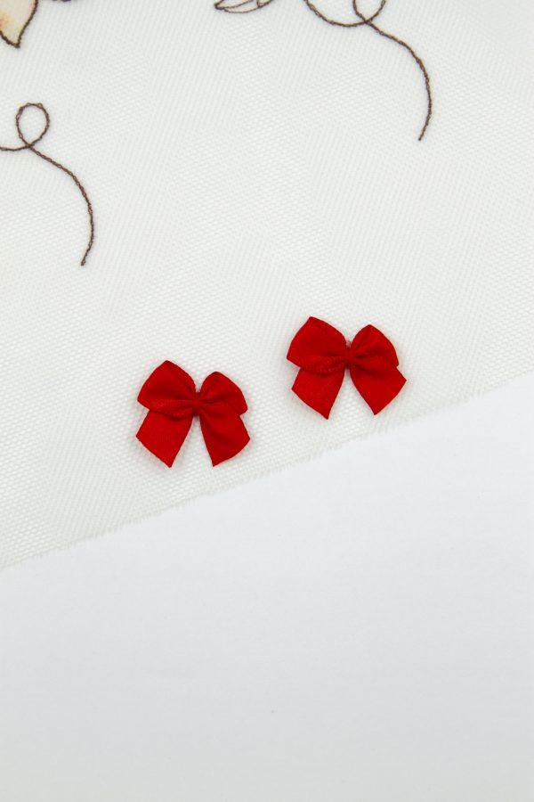 Бантик пришивной 1 см красный