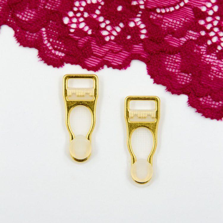 Чулкодержатель металлический бельевая фурнитура 1 см золотой