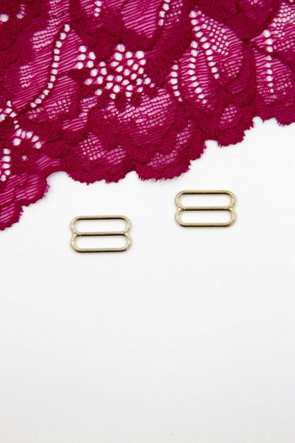 Регулятор металлический бельевая фурнитура 1.5 см светлое золото