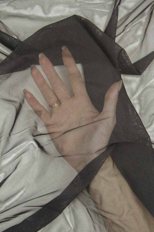 Сетка эластичная бельевая чёрная
