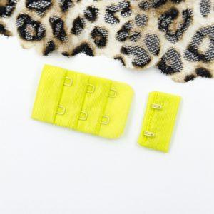 Застёжка текстильная бельевая цвета жёлтый неоновый 2х3