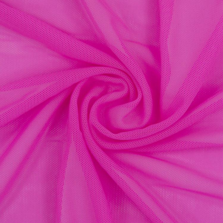 Сетка эластичная бельевая розовая неоновая