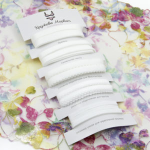 Набор белых резинок для пошива нижнего белья