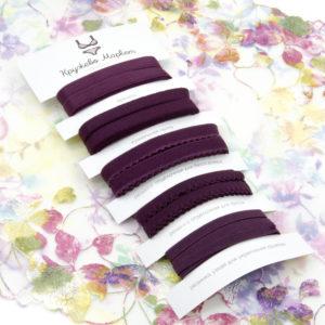 Набор бордовых резинок для пошива нижнего белья