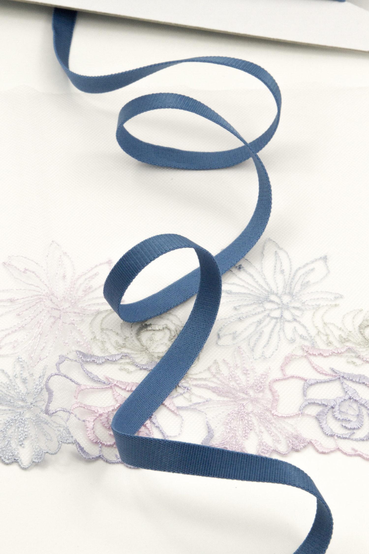 Резинка бретелечная 10 мм глянцевая морская волна