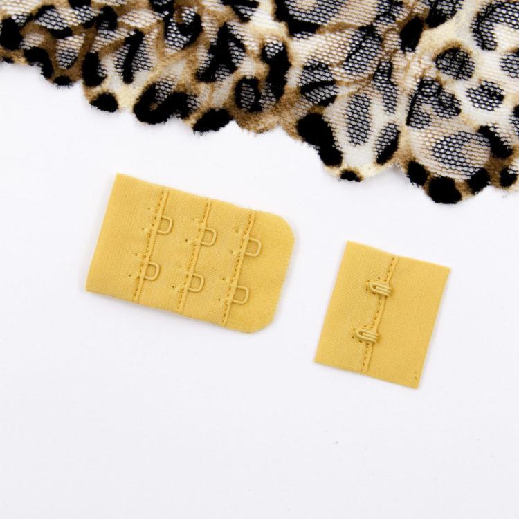 Застёжка текстильная бельевая цвета папайя 2х3