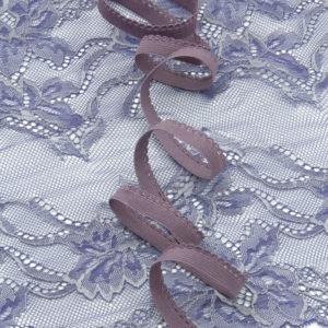 Резинка бельевая ажурная 9 мм крокус