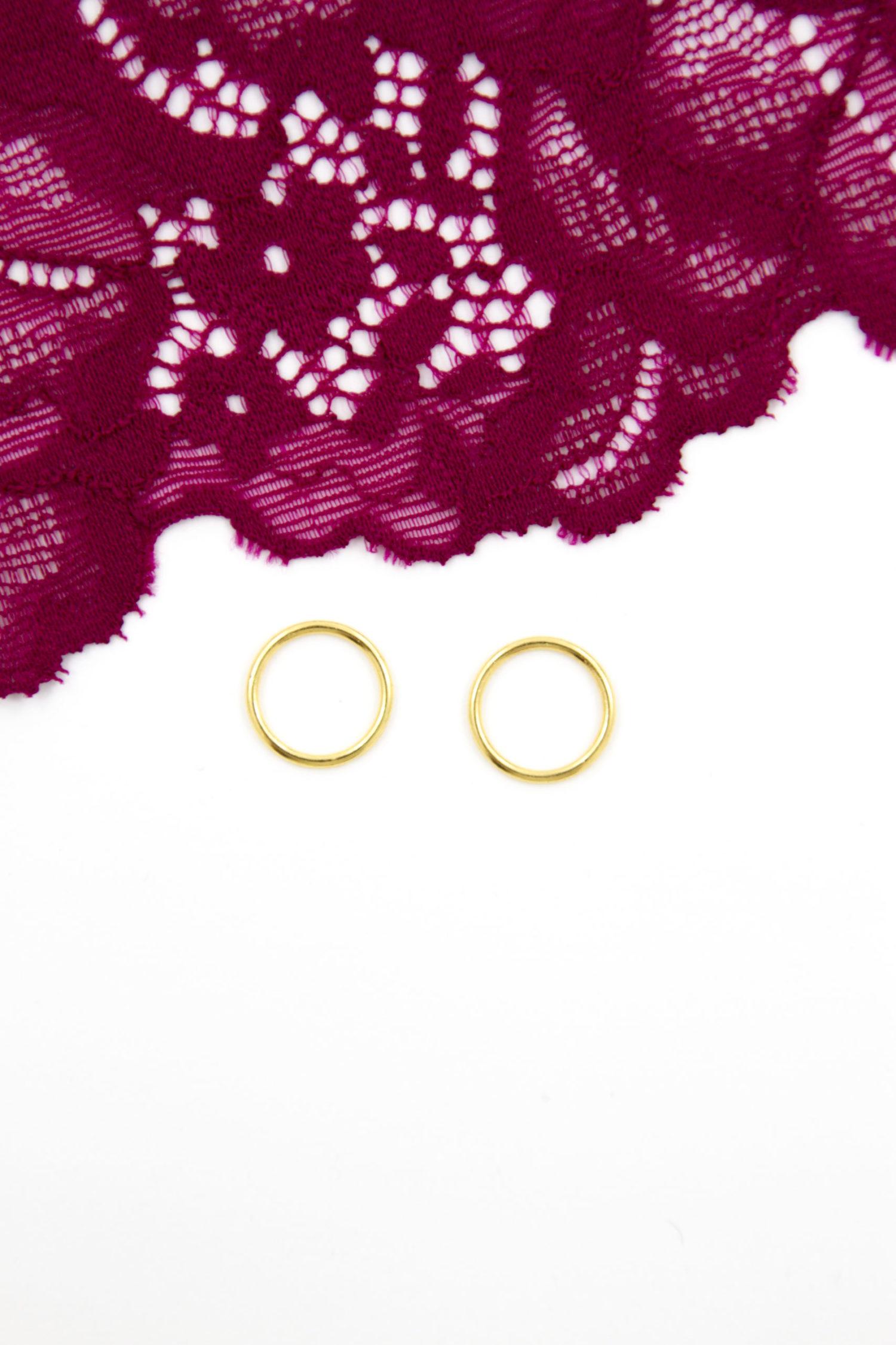 Кольцо металлическое бельевая фурнитура ∅1 см солнечное золото