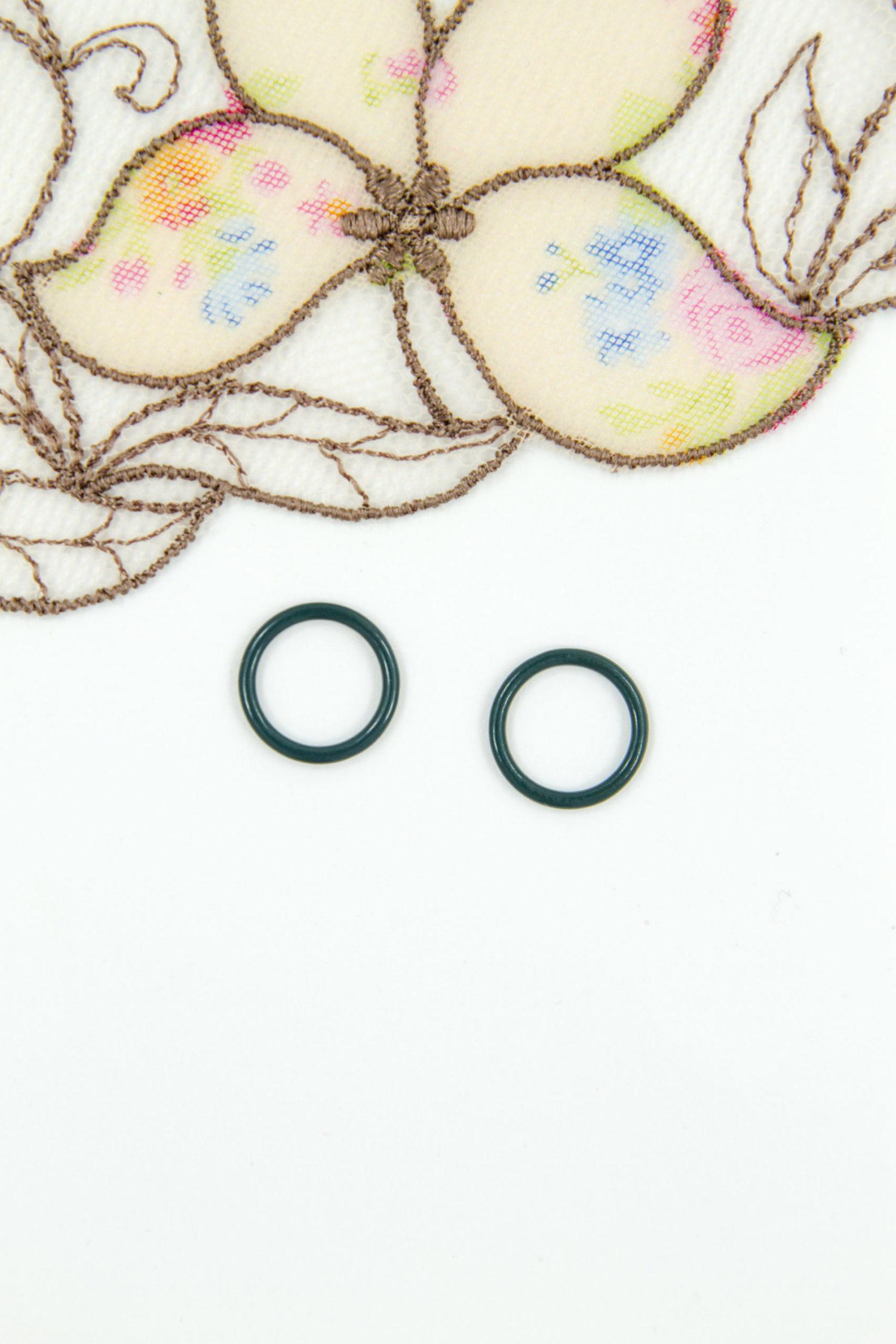 Кольцо металлическое бельевая фурнитура ∅1 см тёмно-зелёный