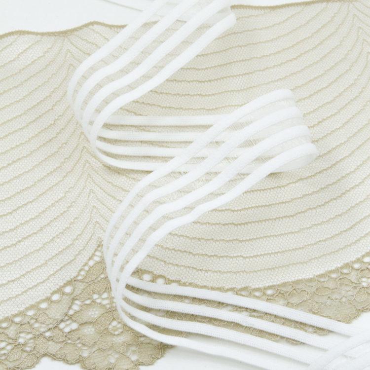 Резинка каркасная с прозрачными вставками 30 мм белая