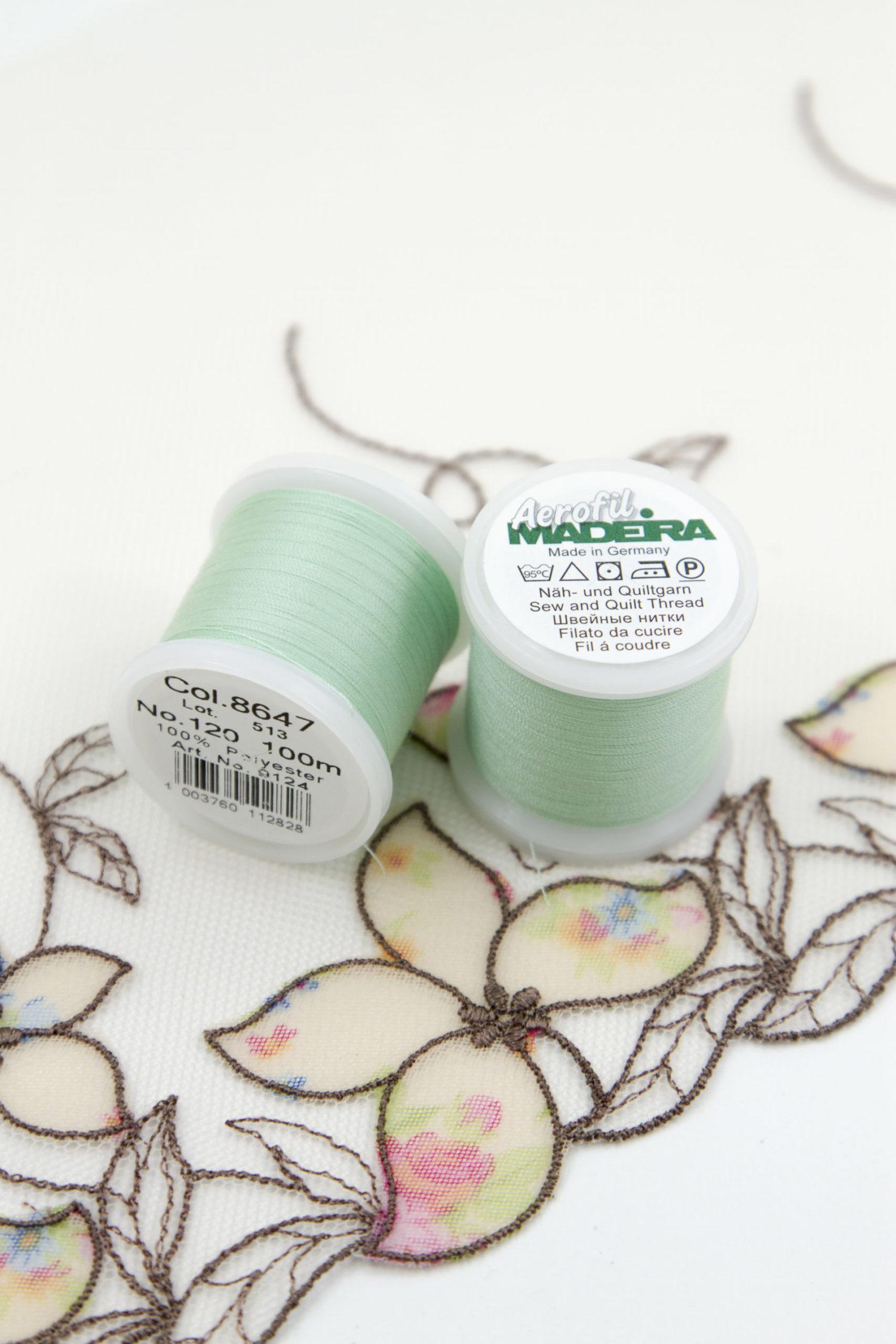Нитки швейные Madeira aerofil №120 Col. 8647 пастельно-ментоловые