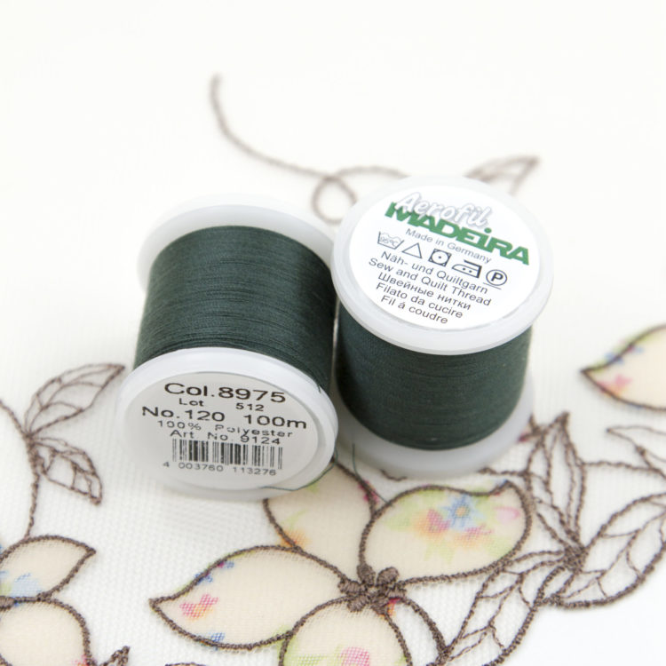 Нитки швейные Madeira aerofil №120 Col. 8975 тёмно-зелёные