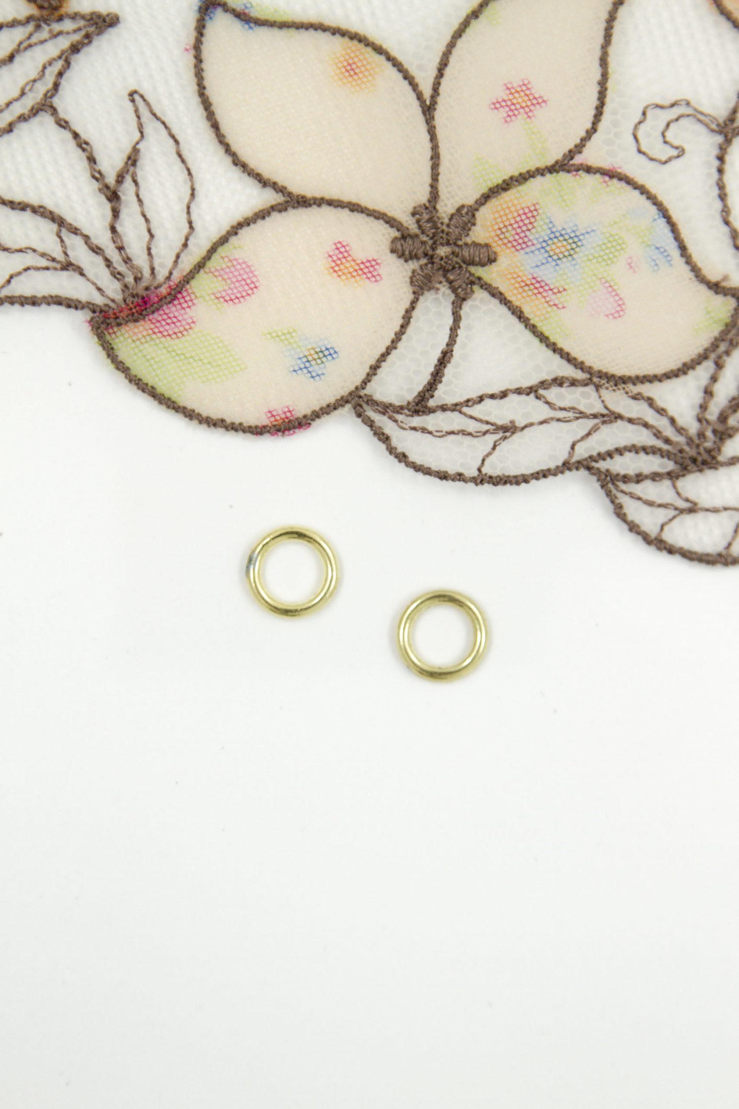 Кольцо металлическое бельевая фурнитура ∅0.6 см золото