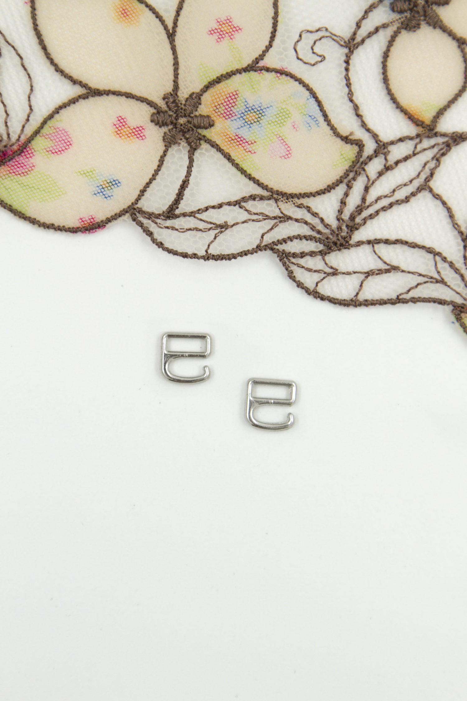 Крючок металлический бельевая фурнитура 0.6 см серебро
