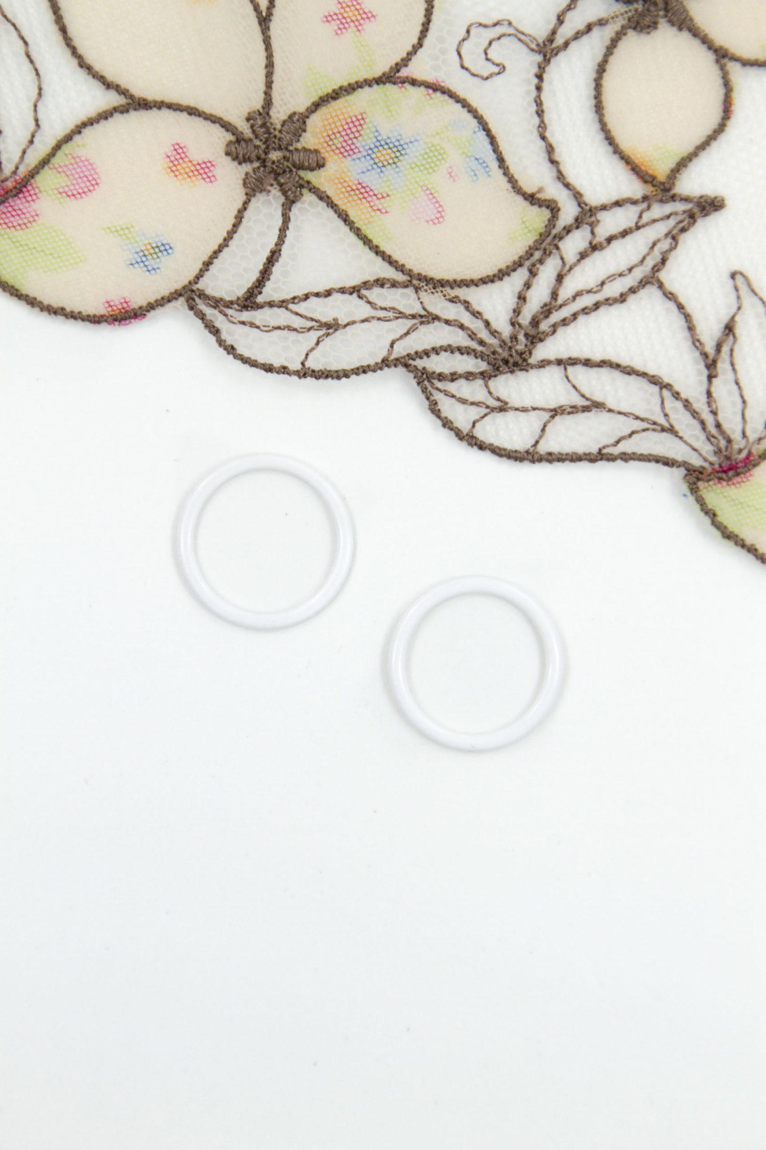 Кольцо металлическое бельевая фурнитура ∅0.6 см белое