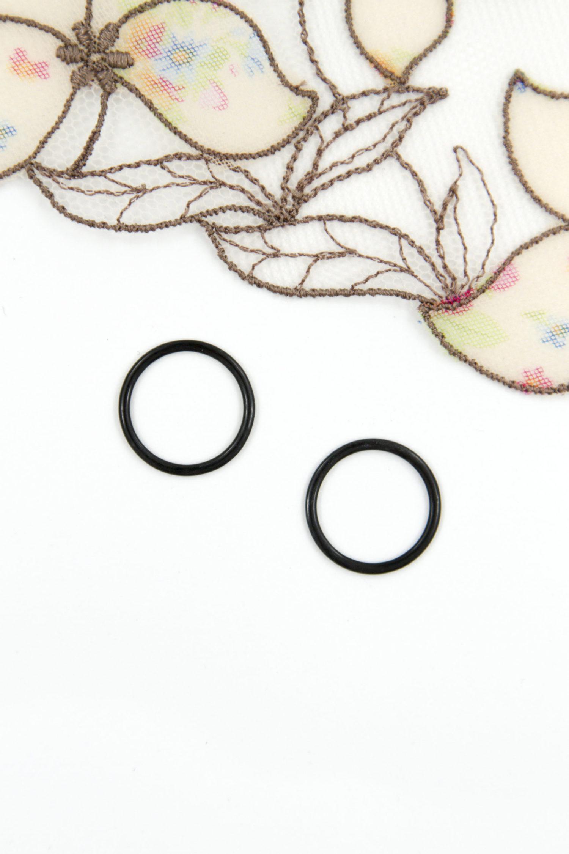 Кольцо металлическое бельевая фурнитура ∅0.6 см чёрное