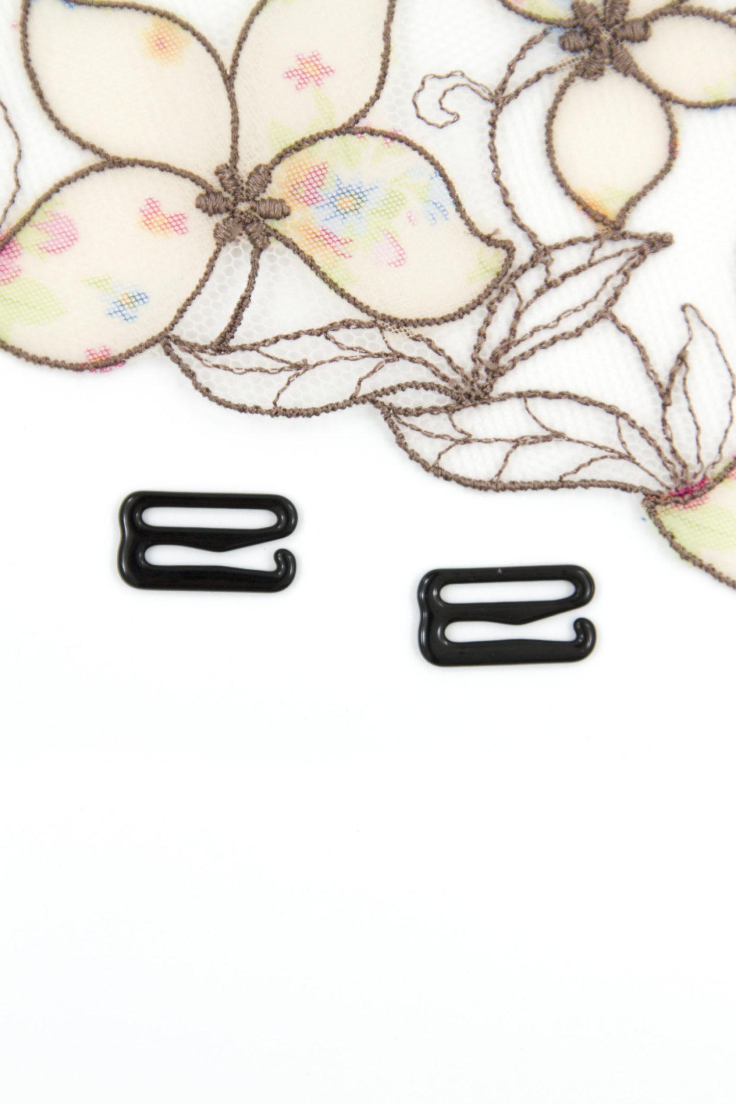 Крючок металлический бельевая фурнитура 1.5 см черный