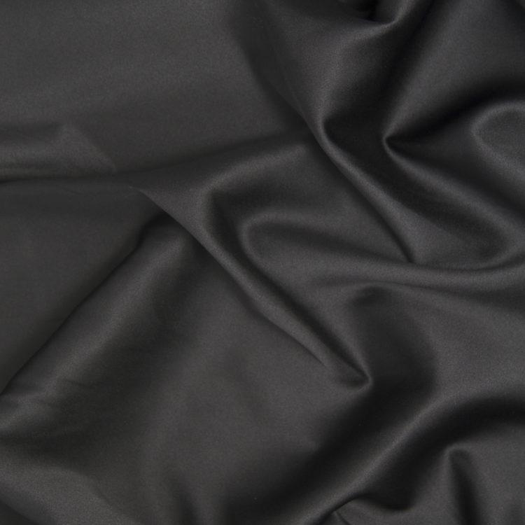 Атлас-стрейч чёрный матовый