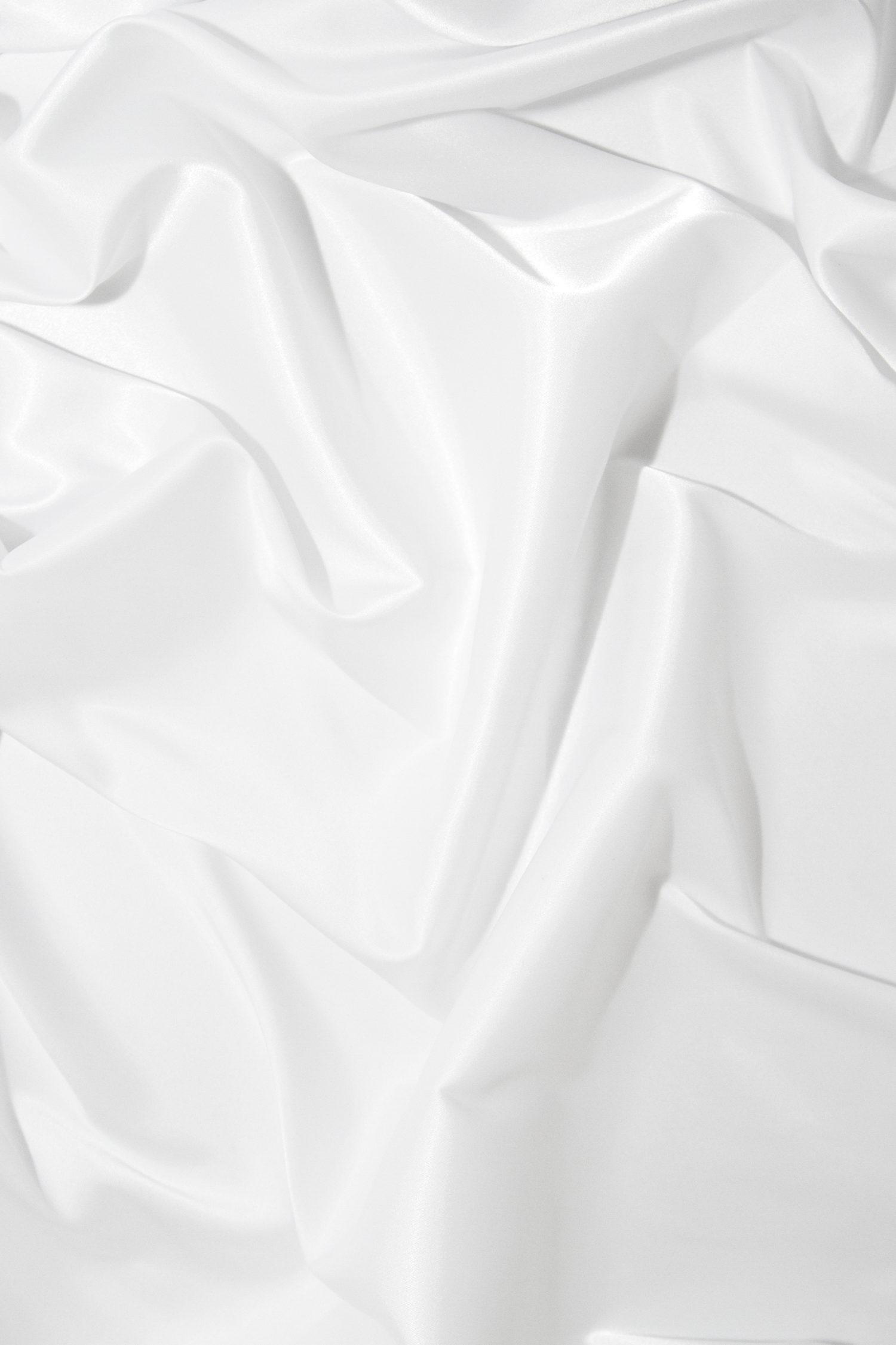 Атлас-стрейч белый глянцевый