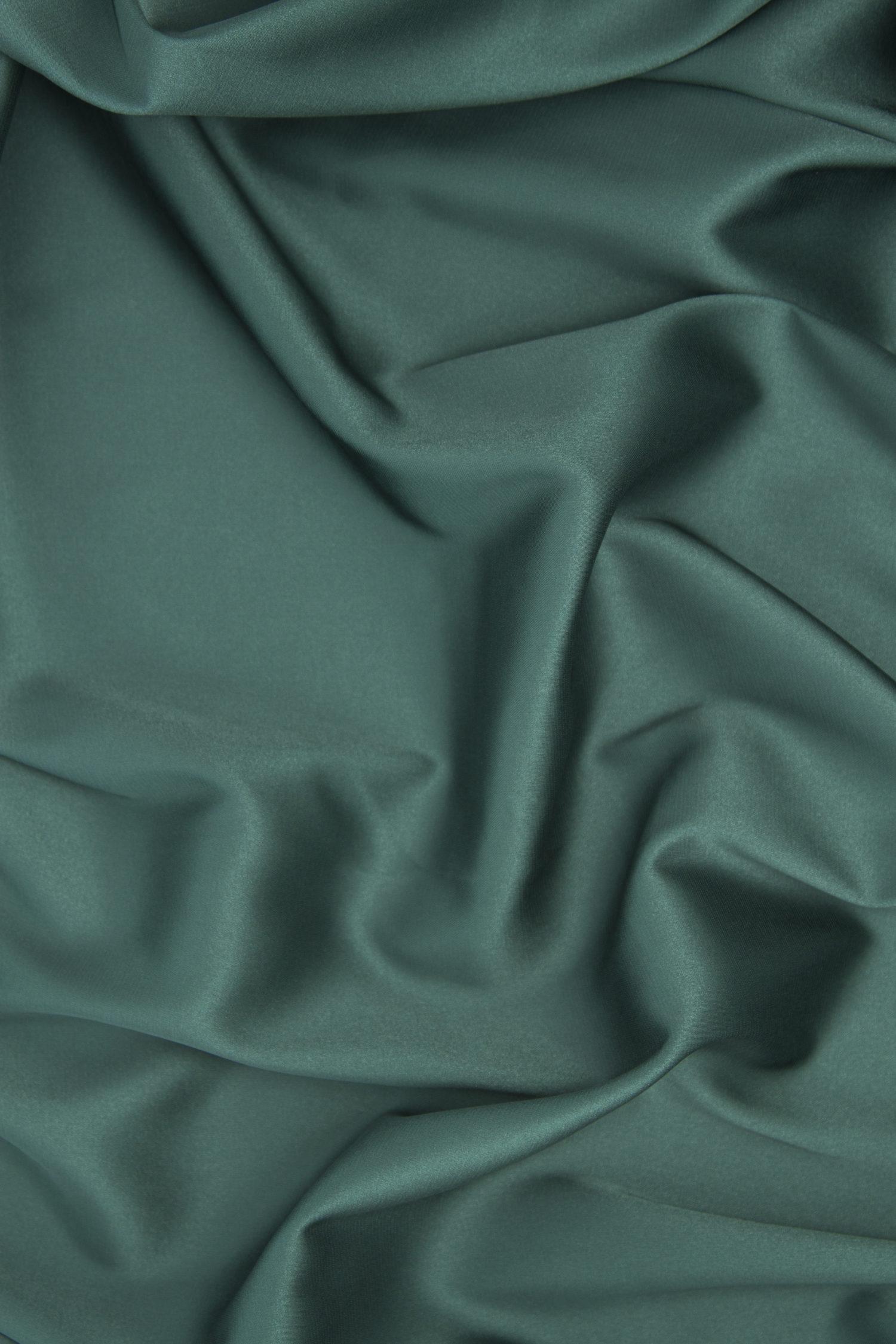 Шёлк армани тёмно-зелёный матовый