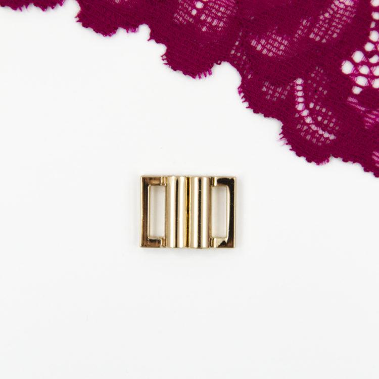 Застёжка металлическая для купальника 10 мм золото